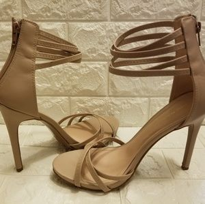 Sexy Strappy Sandy Brown Heels